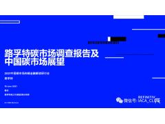 路孚特碳市场调查报告及中国碳市场展望
