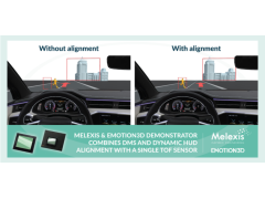 Melexis 和 emotion3D 通力合作,在单个摄像头中集成了 DMS 和 HUD 动态对象校正