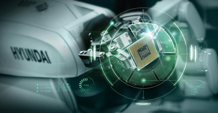 图2 现代机器人的小型六轴机器人在众多行业尤其是3C行业中得到了大量的应用,而现代机器人的努力也获得了市场及客户的认可