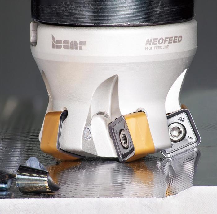 图1 NEOFEED大进给铣刀夹持带8个切削刃的高成本效益刀片