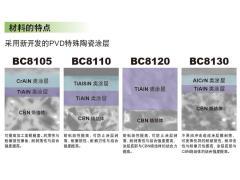 高硬度钢加工用CBN涂层材料BC81系列